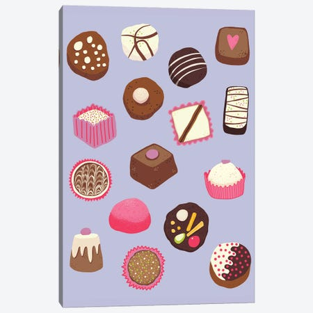 Chocolates And Sweet Treats Violet Canvas Print #NSQ122} by Nic Squirrell Canvas Artwork