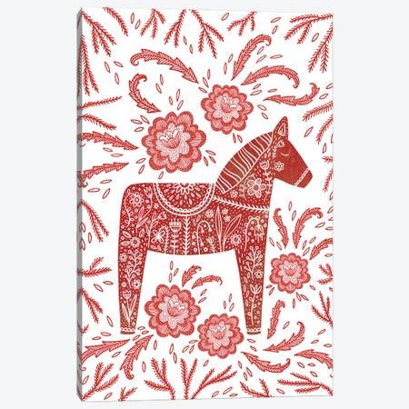 Dala Horse Canvas Print #NSQ124} by Nic Squirrell Canvas Print