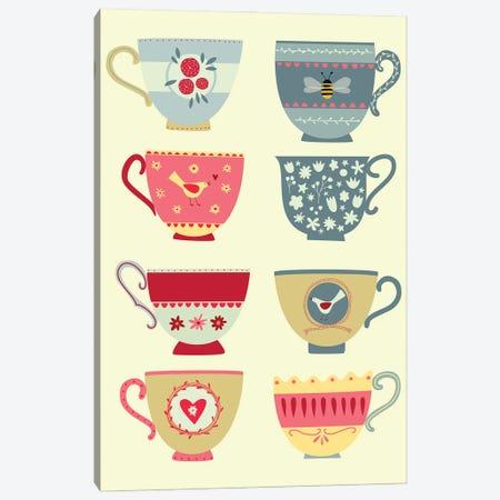 Eight Tea Cups Canvas Print #NSQ137} by Nic Squirrell Canvas Wall Art