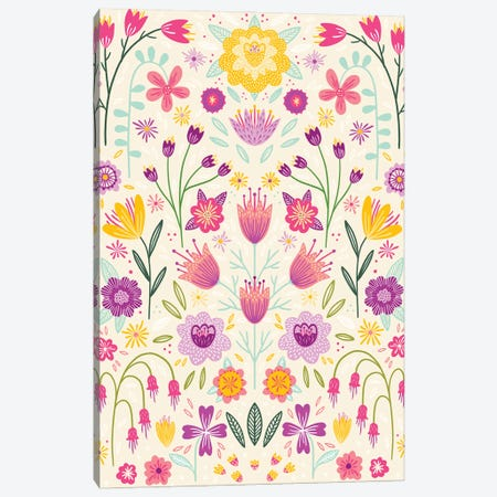 Floral Symmetry Canvas Print #NSQ143} by Nic Squirrell Canvas Artwork