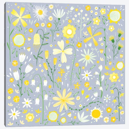 Fresh Flowers Canvas Print #NSQ146} by Nic Squirrell Canvas Art Print