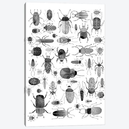 Ink Beetles Canvas Print #NSQ162} by Nic Squirrell Canvas Artwork