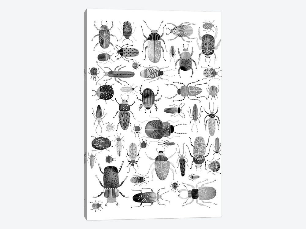 Ink Beetles by Nic Squirrell 1-piece Canvas Art