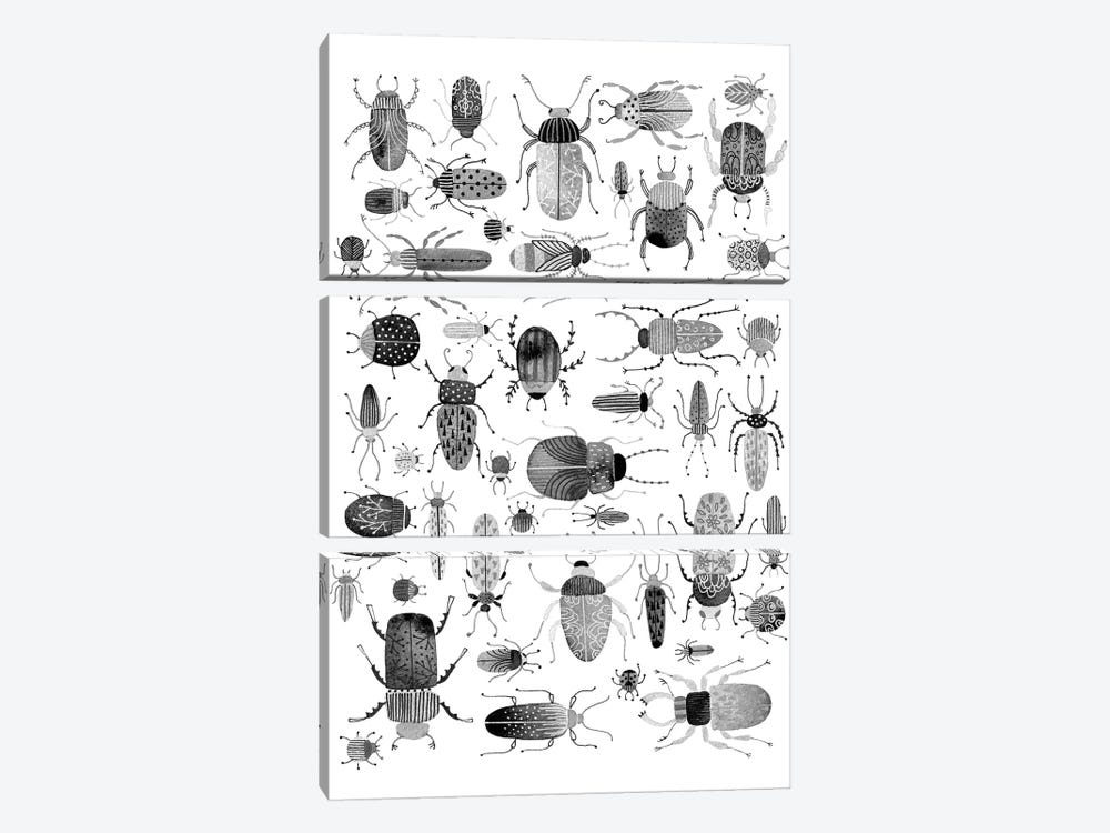 Ink Beetles by Nic Squirrell 3-piece Canvas Art