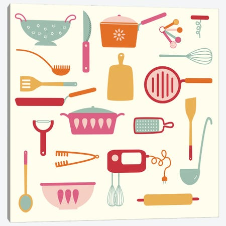 Kitchen Things Canvas Print #NSQ169} by Nic Squirrell Canvas Wall Art