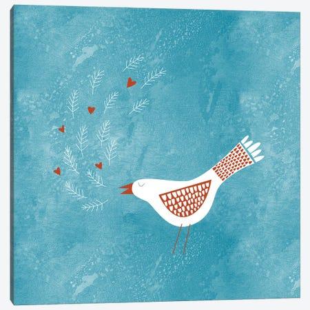 La la la Bird Canvas Print #NSQ172} by Nic Squirrell Art Print