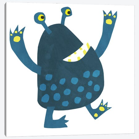 Little Monster Canvas Print #NSQ176} by Nic Squirrell Canvas Wall Art