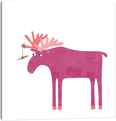 Daft Moose Canvas Art Print