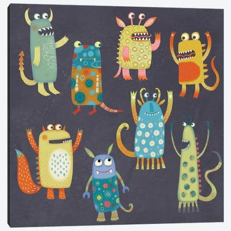 Monster Fun Canvas Print #NSQ180} by Nic Squirrell Canvas Artwork