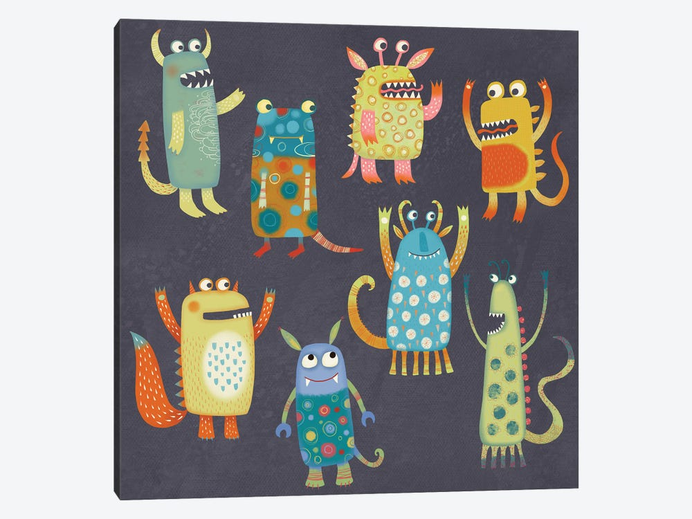 Monster Fun by Nic Squirrell 1-piece Canvas Wall Art
