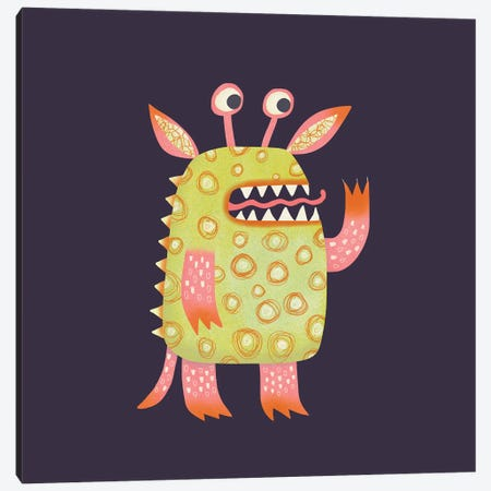 Monster Rufus Canvas Print #NSQ181} by Nic Squirrell Canvas Art