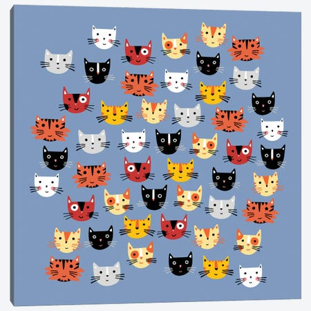 Multiple Cats Canvas Print #NSQ186} by Nic Squirrell Art Print