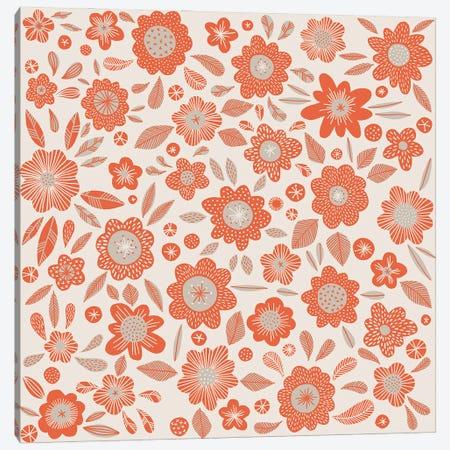 Orange Flowers Canvas Print #NSQ198} by Nic Squirrell Canvas Art Print