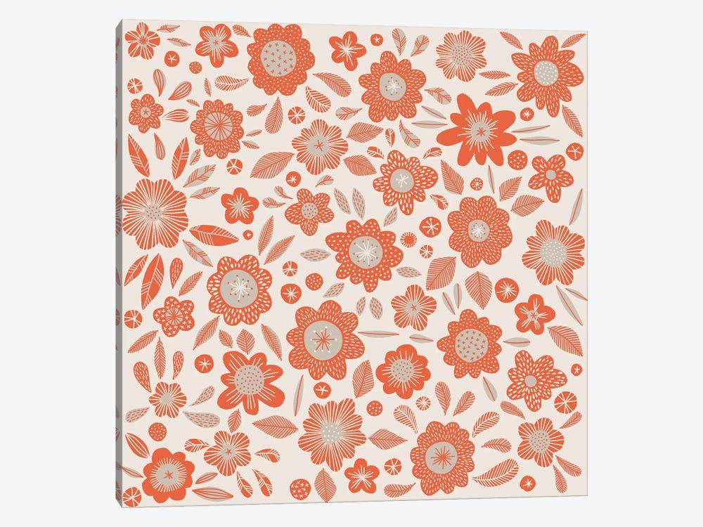 Orange Flowers by Nic Squirrell 1-piece Canvas Print
