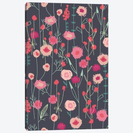 Plymouth Flower Meadow Dark Canvas Print #NSQ215} by Nic Squirrell Art Print