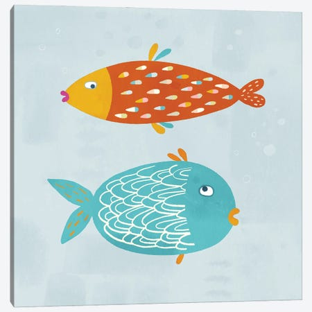 Sarcastic Fish Canvas Print #NSQ21} by Nic Squirrell Canvas Artwork