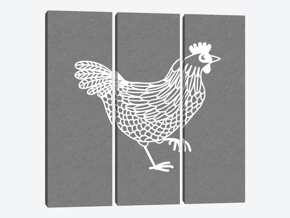 White Hen by Nic Squirrell 3-piece Art Print