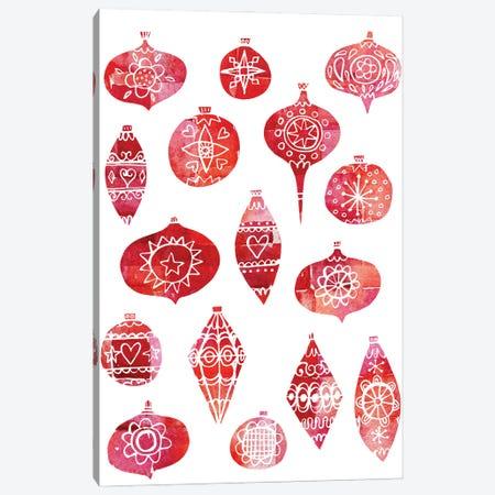 Retro Christmas Ornaments Canvas Print #NSQ230} by Nic Squirrell Canvas Artwork
