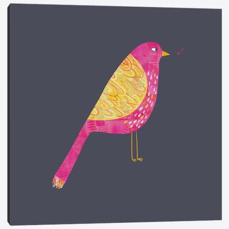 Sarcastic Bird Dark Canvas Print #NSQ237} by Nic Squirrell Art Print