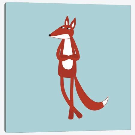 Sarcastic Fox Canvas Print #NSQ239} by Nic Squirrell Canvas Artwork