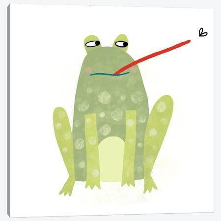 Frog Canvas Print #NSQ23} by Nic Squirrell Canvas Artwork