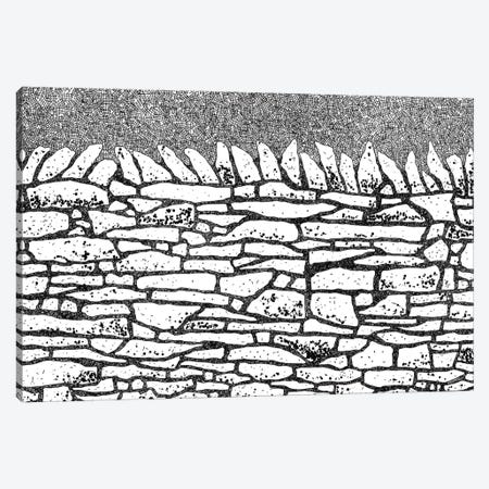 Dry Stone Wall Canvas Print #NSQ259} by Nic Squirrell Canvas Artwork