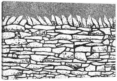 Dry Stone Wall Canvas Art Print