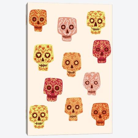 Sugar Skulls Canvas Print #NSQ262} by Nic Squirrell Art Print