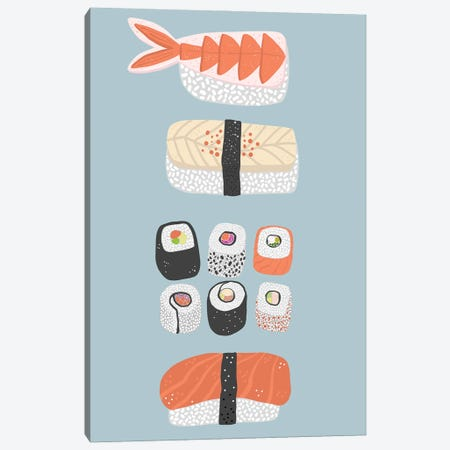 Sushi Canvas Print #NSQ264} by Nic Squirrell Canvas Art