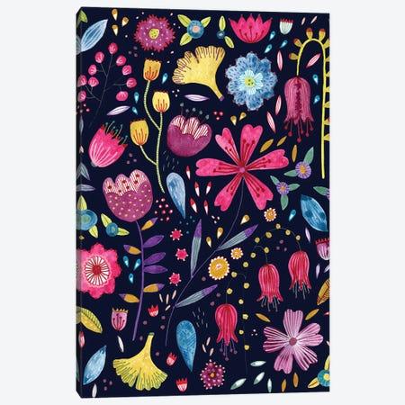 Autumn Hedgerow Dark Canvas Print #NSQ266} by Nic Squirrell Canvas Art