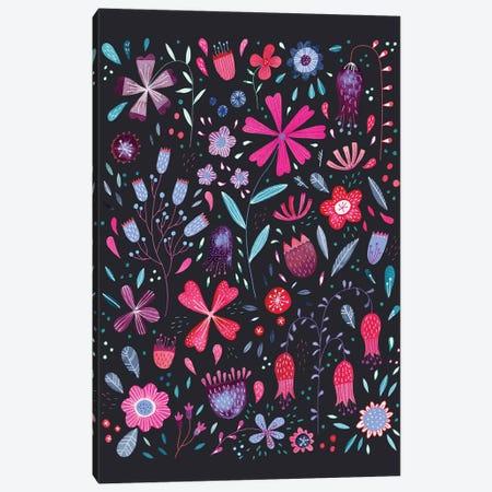 Kennington Flowers Dark Canvas Print #NSQ272} by Nic Squirrell Canvas Artwork