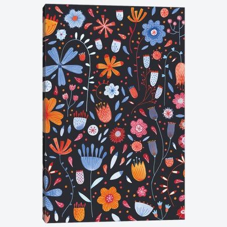 English Meadow Dark Canvas Print #NSQ282} by Nic Squirrell Art Print