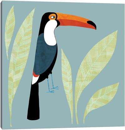 Toucan Blue Canvas Art Print