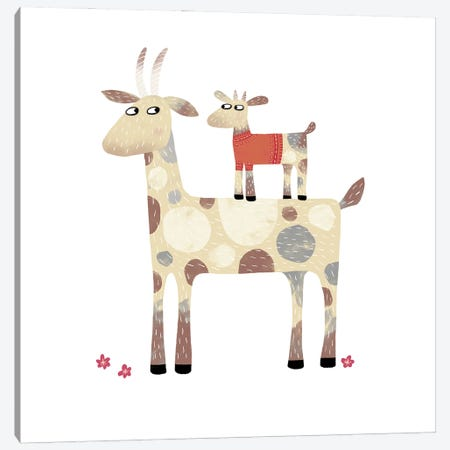 Goats 3-Piece Canvas #NSQ28} by Nic Squirrell Canvas Wall Art