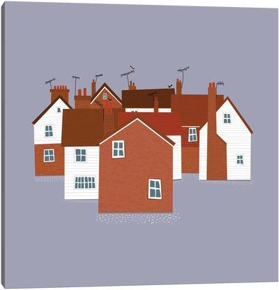 English Houses Canvas Art Print