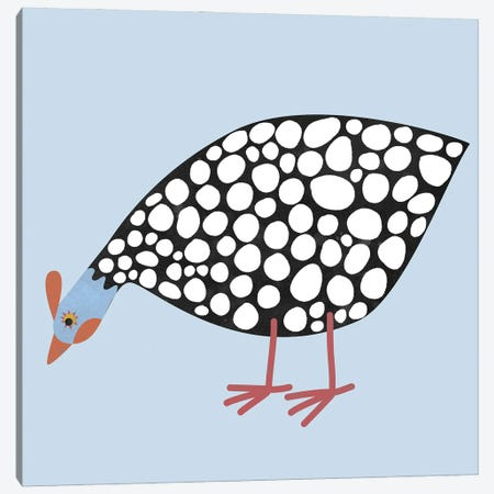 Guinea Hen Canvas Print #NSQ29} by Nic Squirrell Canvas Wall Art