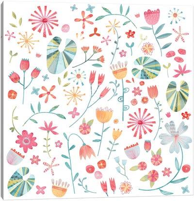 Wayside Flowers Canvas Art Print