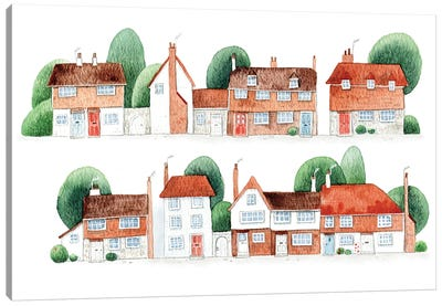 Winchelsea Houses Canvas Art Print