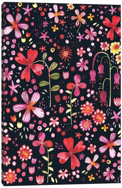 Overgrown Garden Dark Canvas Art Print