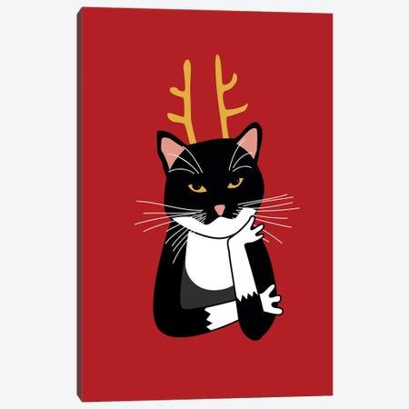 Sarcastic Christmas Cat Canvas Print #NSQ319} by Nic Squirrell Canvas Art Print