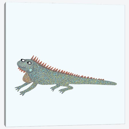 Iguana Canvas Print #NSQ36} by Nic Squirrell Canvas Art