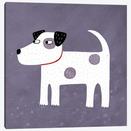Jack Russell Terrier Dog Canvas Print #NSQ38} by Nic Squirrell Art Print