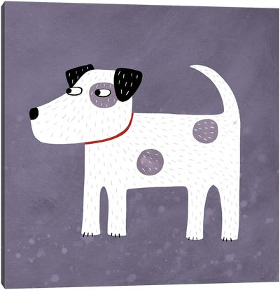 Jack Russell Terrier Dog Canvas Art Print