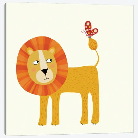 Lion Canvas Print #NSQ44} by Nic Squirrell Canvas Print