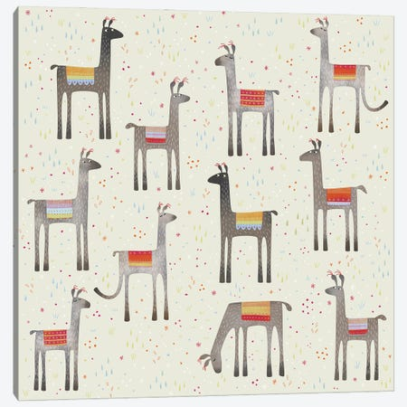 Llamas In A Meadow Canvas Print #NSQ45} by Nic Squirrell Canvas Print