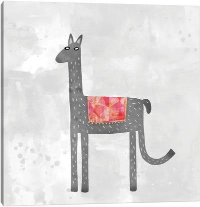 Llama With A Fancy Blanket Canvas Art Print