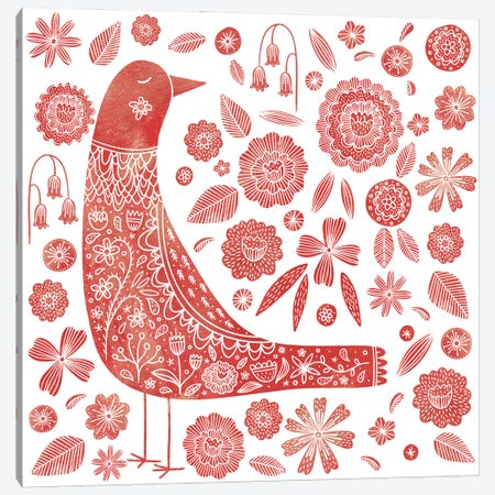Nordic Bird Canvas Print #NSQ49} by Nic Squirrell Canvas Wall Art