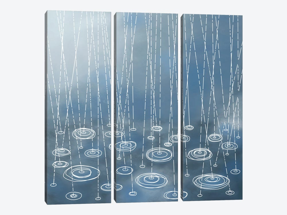 Another Rainy Day by Nic Squirrell 3-piece Canvas Art