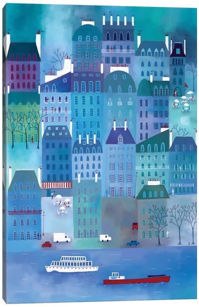 Paris Blues Canvas Art Print