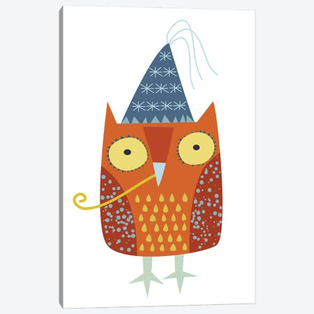 Party Owl Canvas Print #NSQ53} by Nic Squirrell Art Print